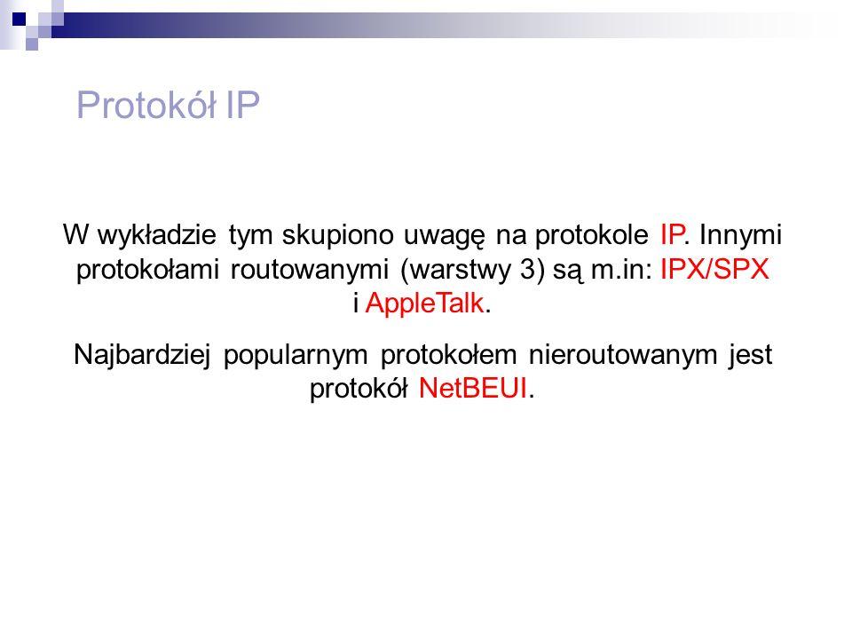 Najbardziej popularnym protokołem nieroutowanym jest protokół NetBEUI.