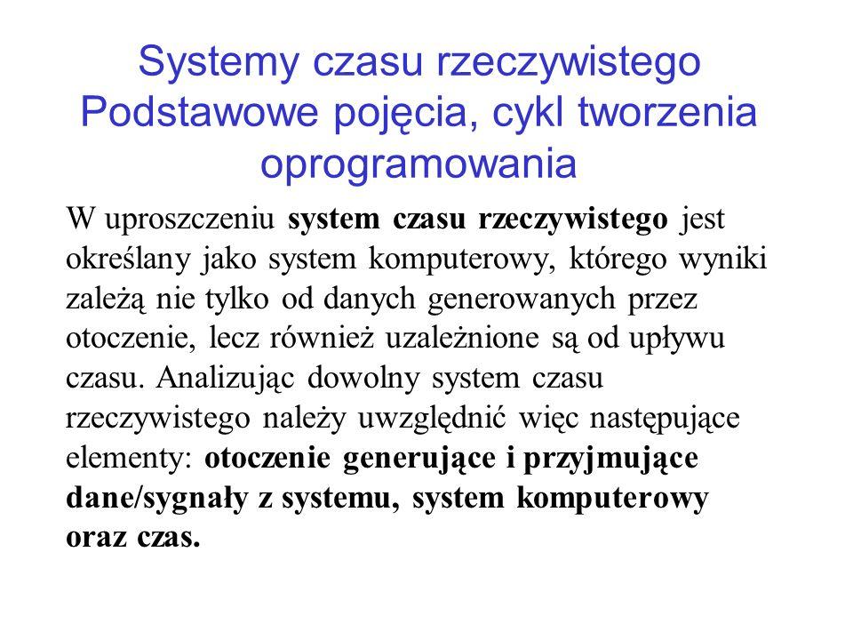 Systemy czasu rzeczywistego Podstawowe pojęcia, cykl tworzenia oprogramowania