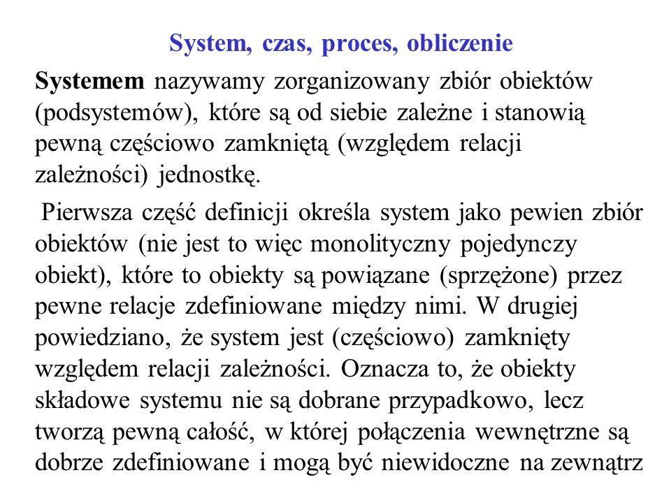 System, czas, proces, obliczenie