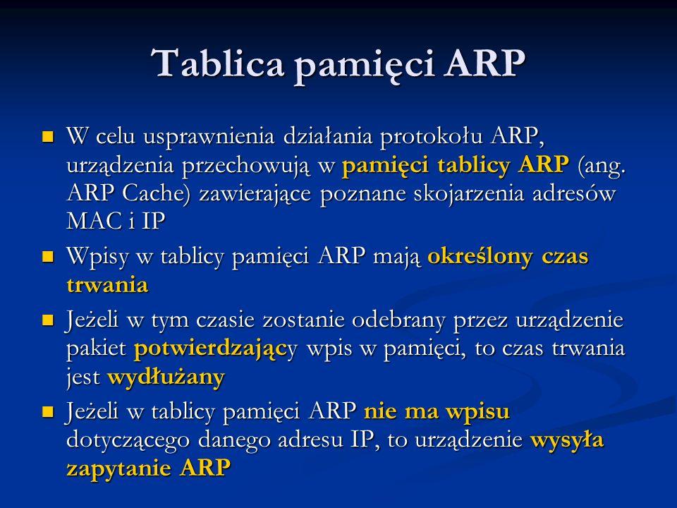 Tablica pamięci ARP