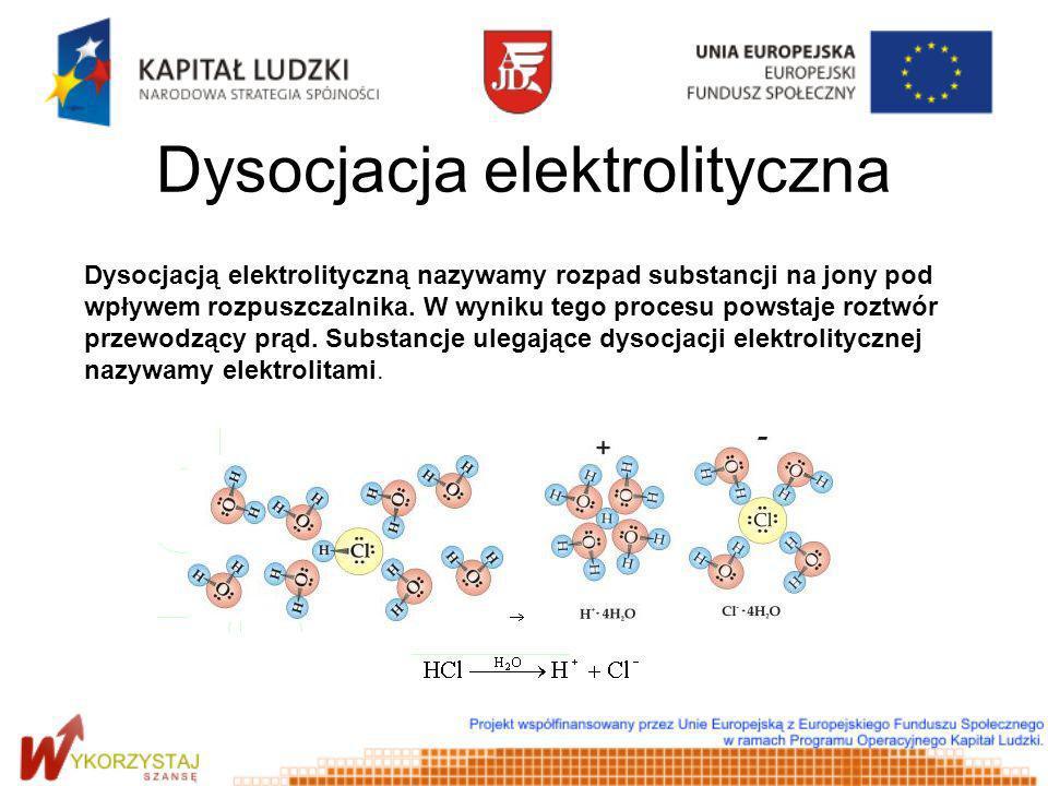 Dysocjacja elektrolityczna