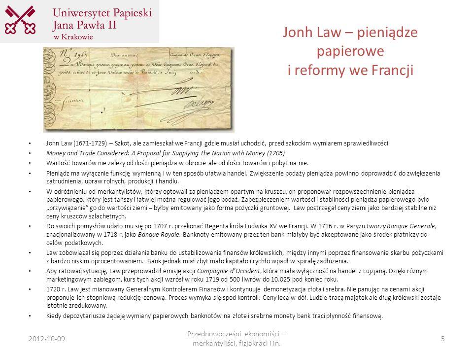 Jonh Law – pieniądze papierowe i reformy we Francji