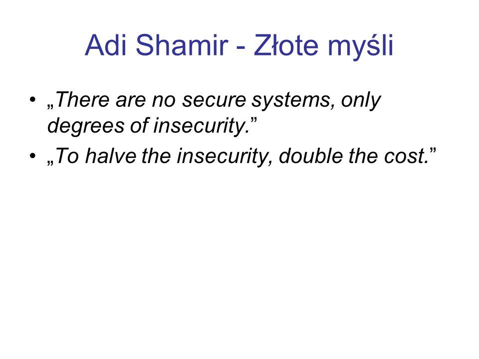 Adi Shamir - Złote myśli