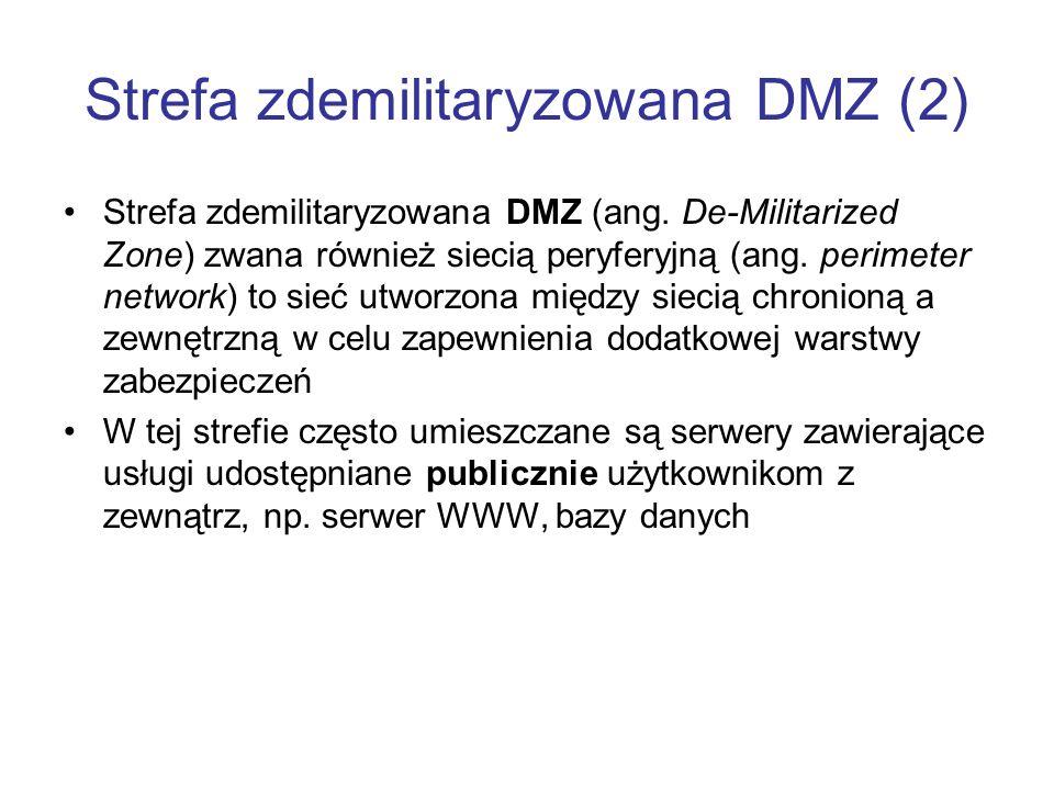 Strefa zdemilitaryzowana DMZ (2)