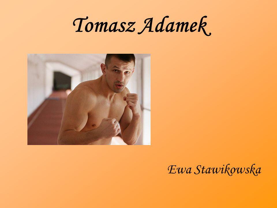 Tomasz Adamek Ewa Stawikowska