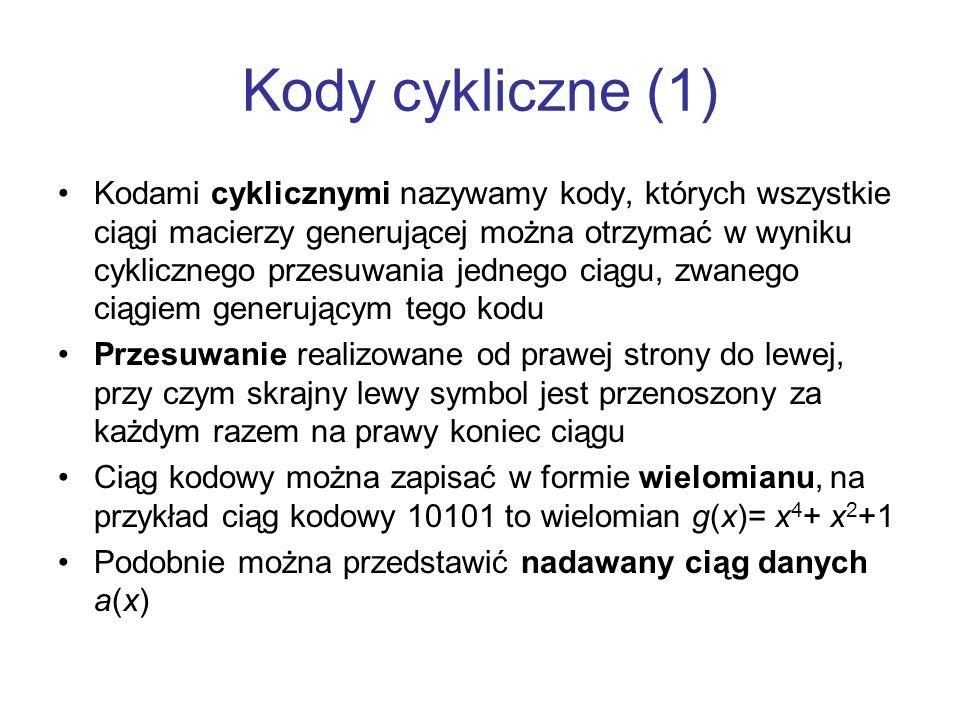 Kody cykliczne (1)