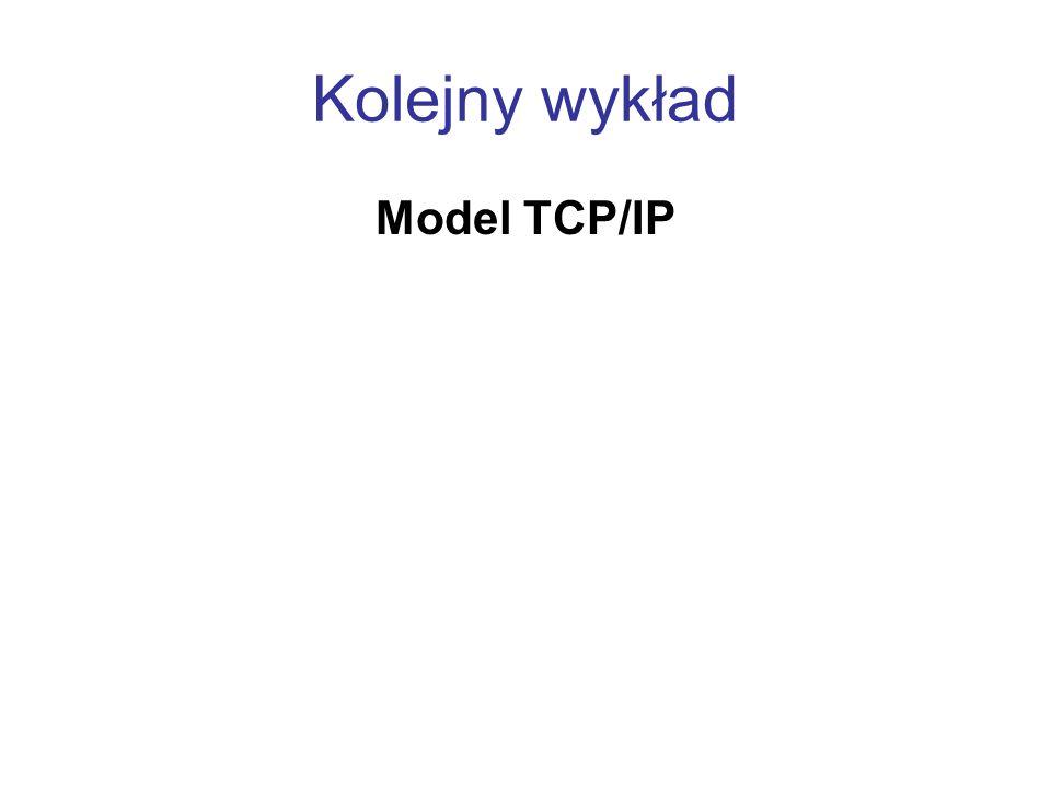 Kolejny wykład Model TCP/IP