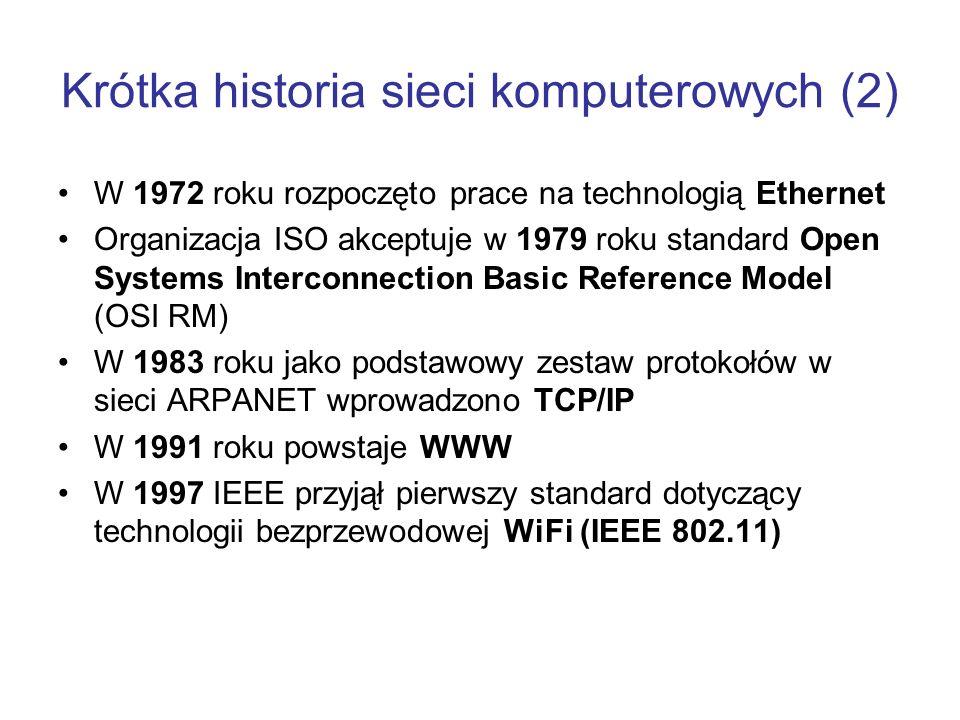 Krótka historia sieci komputerowych (2)