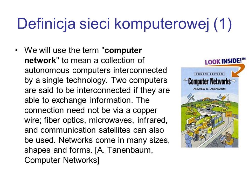 Definicja sieci komputerowej (1)