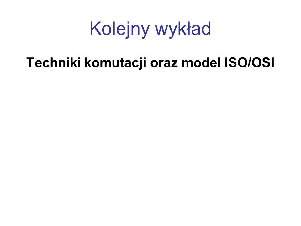 Techniki komutacji oraz model ISO/OSI