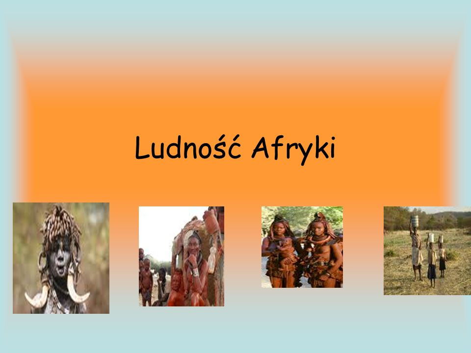 Ludność Afryki
