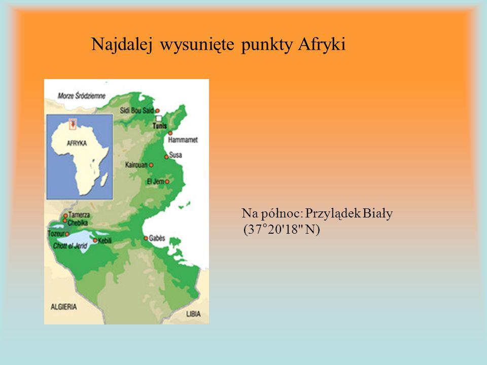 Najdalej wysunięte punkty Afryki