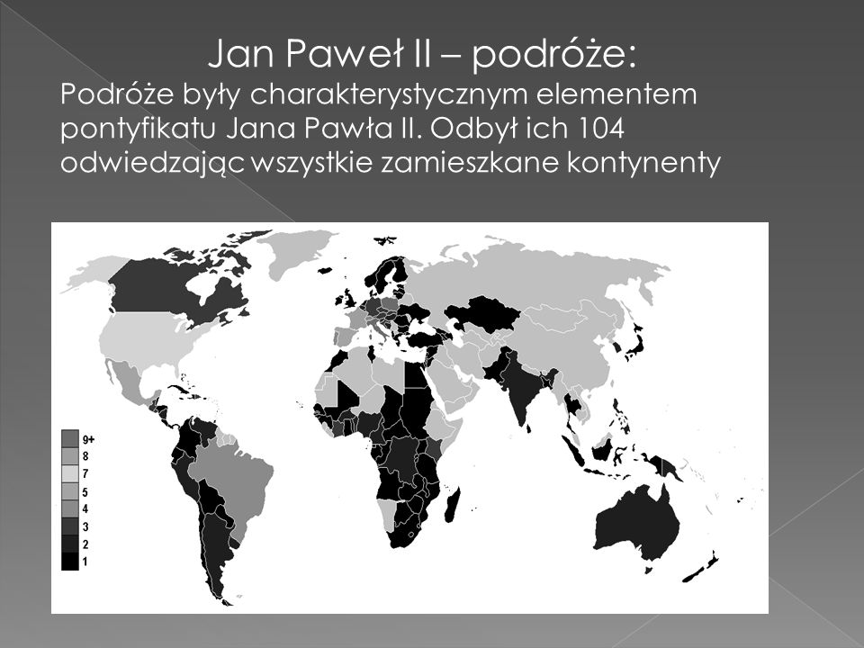 Jan Paweł II – podróże: