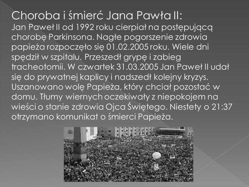 Choroba i śmierć Jana Pawła II:
