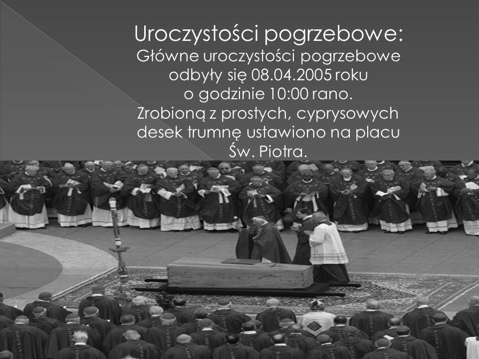 Uroczystości pogrzebowe: