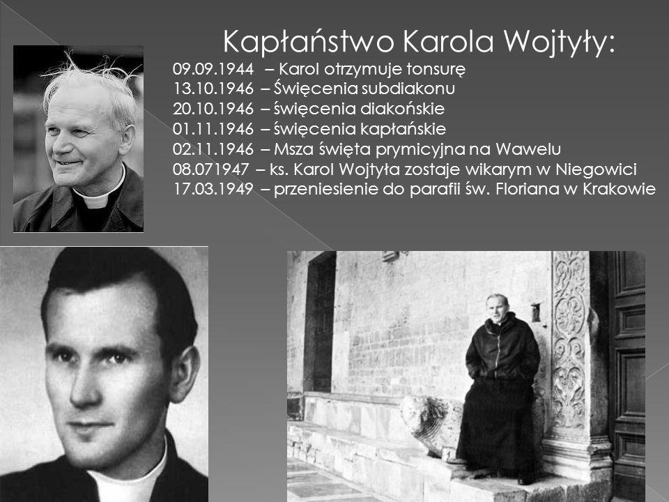 Kapłaństwo Karola Wojtyły:
