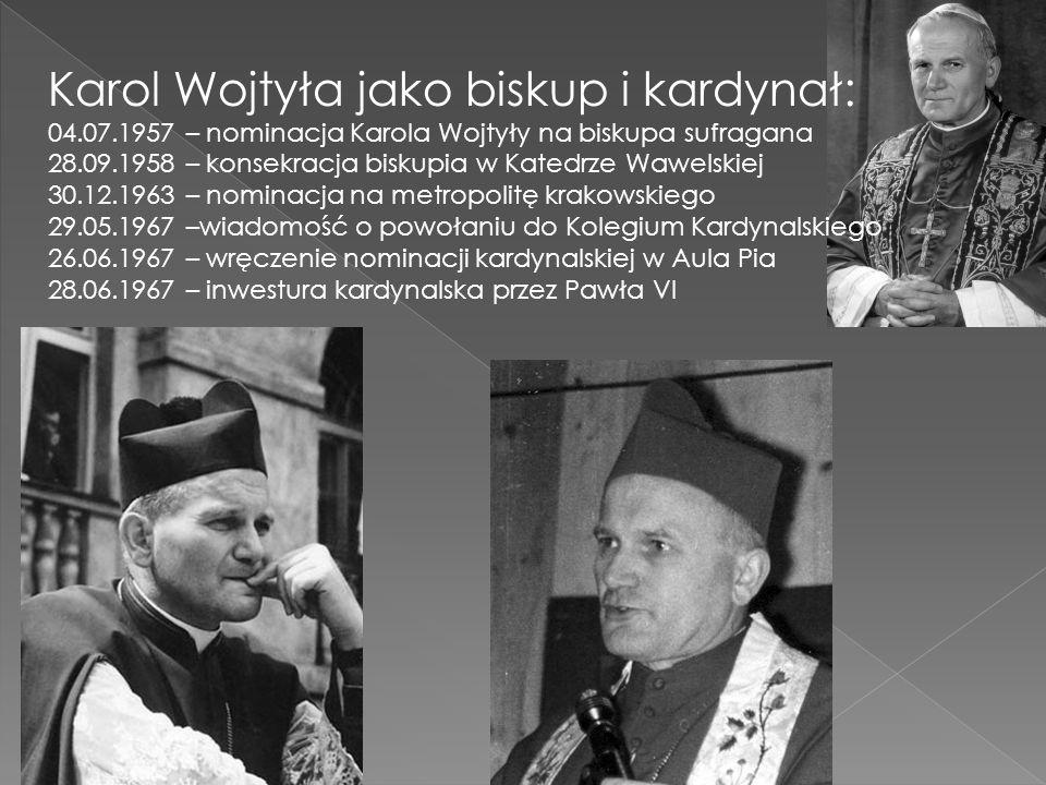 Karol Wojtyła jako biskup i kardynał: