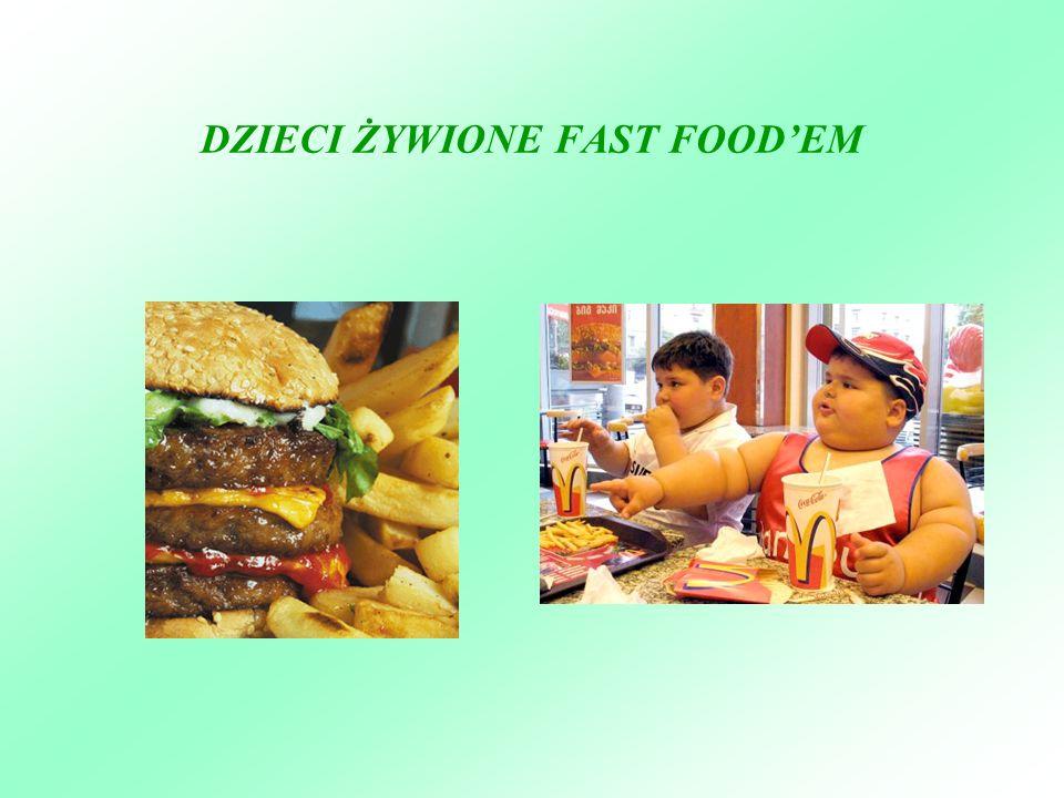 DZIECI ŻYWIONE FAST FOOD'EM