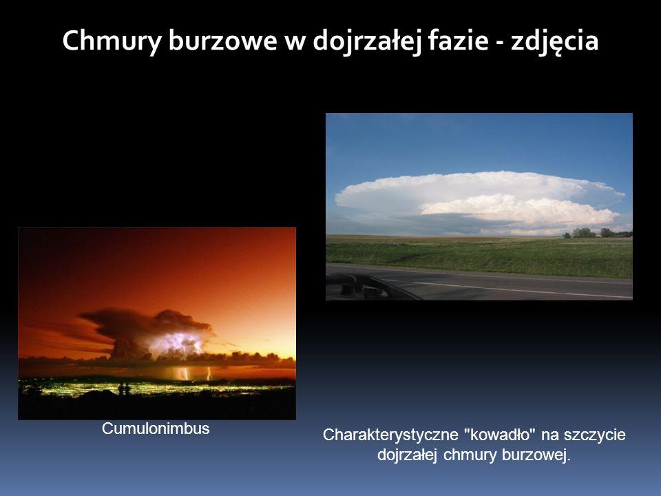 Chmury burzowe w dojrzałej fazie - zdjęcia