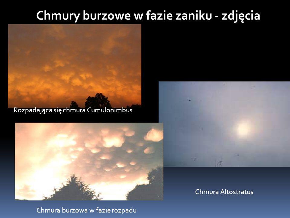 Chmury burzowe w fazie zaniku - zdjęcia