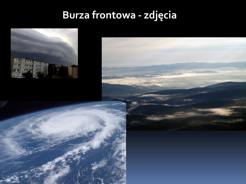 Burza frontowa - zdjęcia