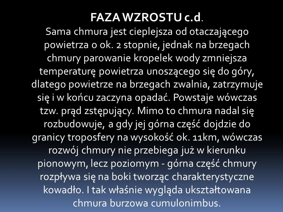 FAZA WZROSTU c.d.