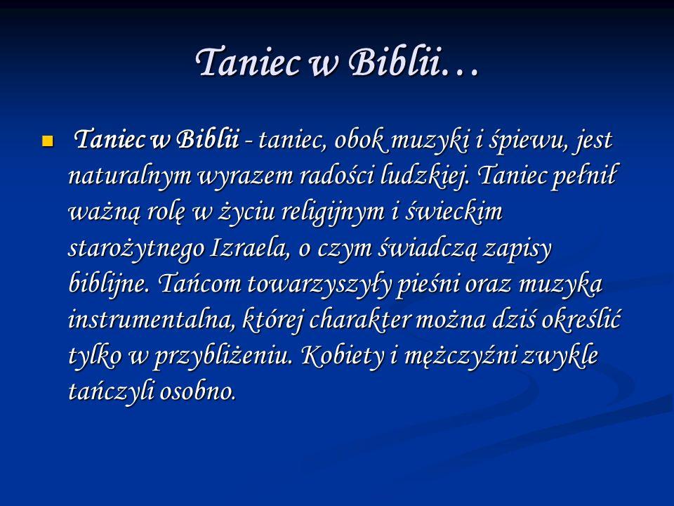 Taniec w Biblii…