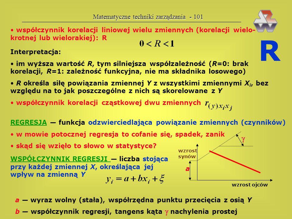 R  Matematyczne techniki zarządzania - 101