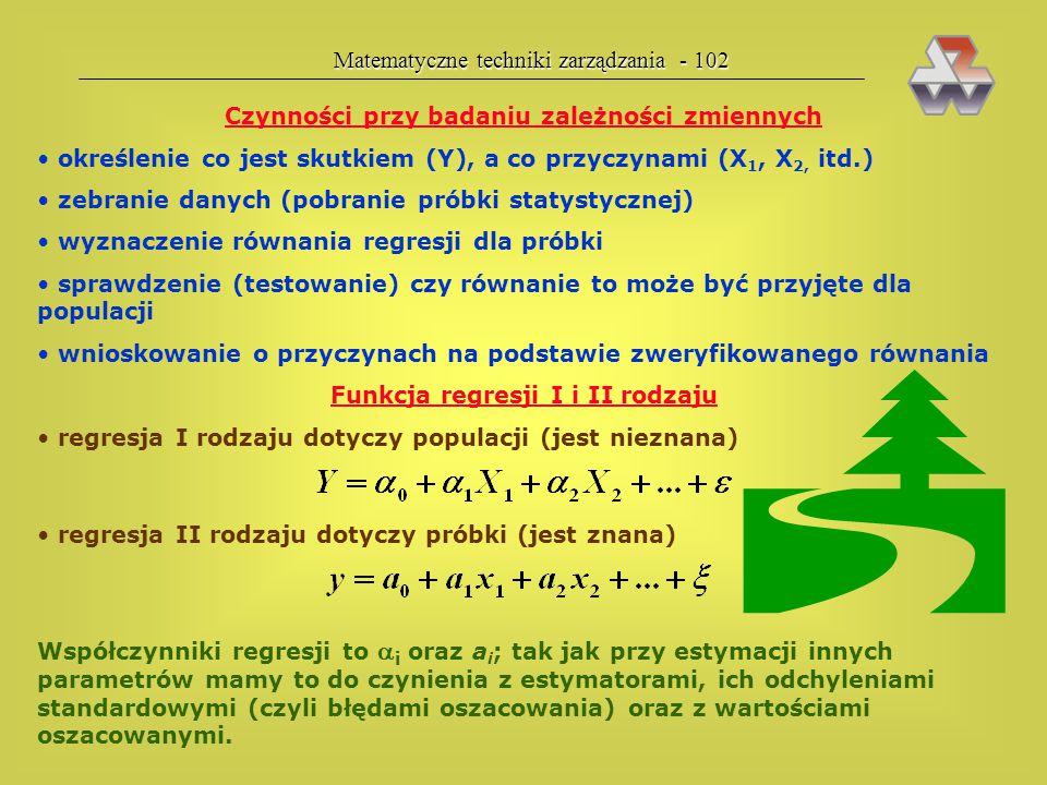  Matematyczne techniki zarządzania - 102