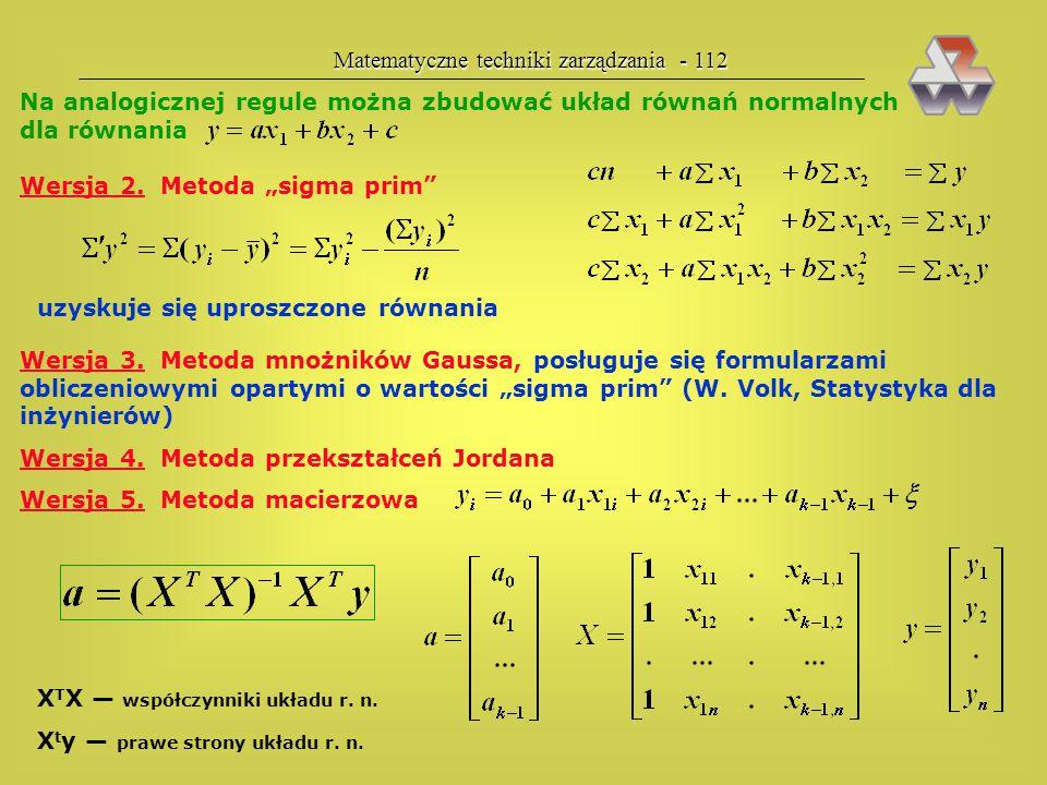 Matematyczne techniki zarządzania - 112