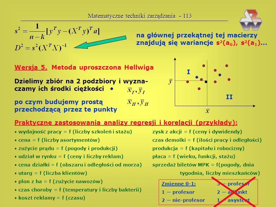 Matematyczne techniki zarządzania - 113