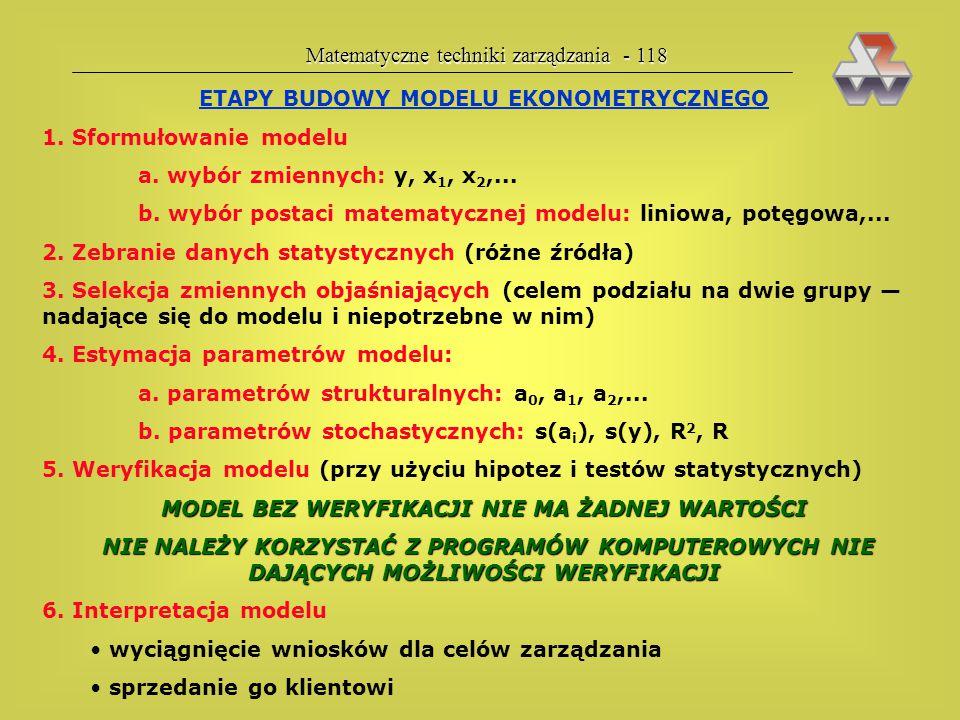 Matematyczne techniki zarządzania - 118