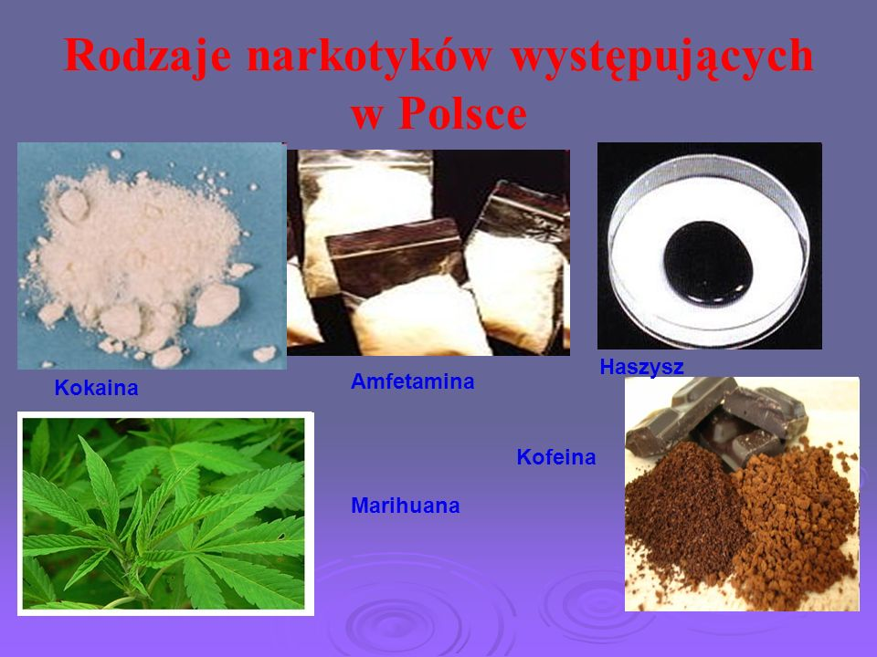 Rodzaje narkotyków występujących w Polsce