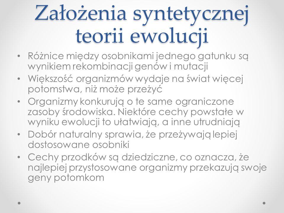 Założenia syntetycznej teorii ewolucji