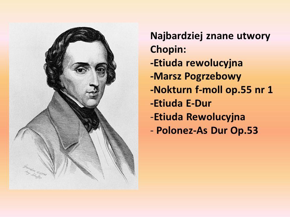 Najbardziej znane utwory Chopin: