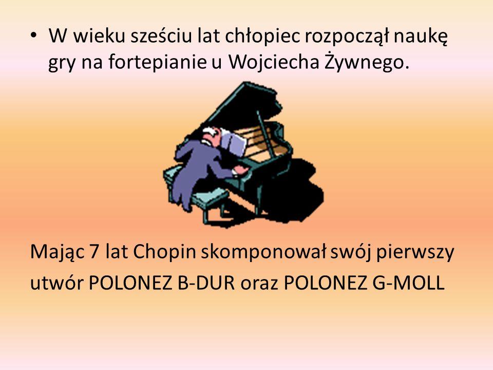 W wieku sześciu lat chłopiec rozpoczął naukę gry na fortepianie u Wojciecha Żywnego.
