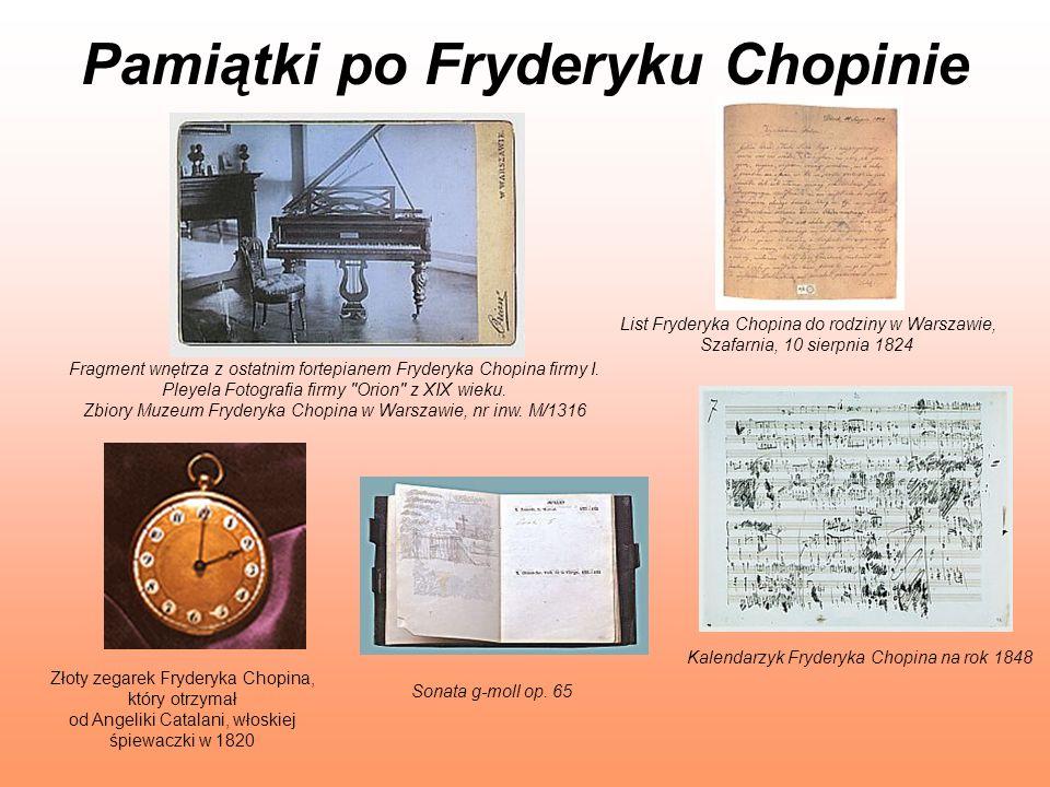 Pamiątki po Fryderyku Chopinie