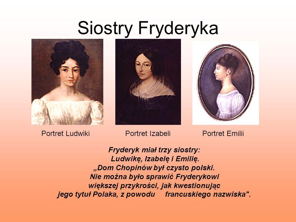 Siostry Fryderyka Portret Ludwiki Portret Izabeli Portret Emilii