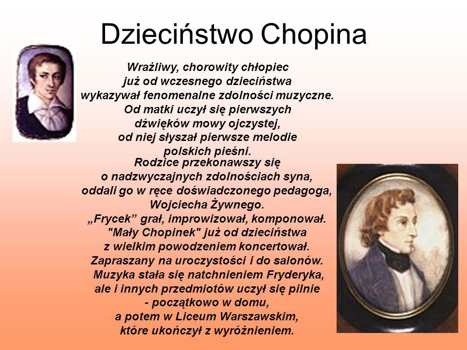 Dzieciństwo Chopina