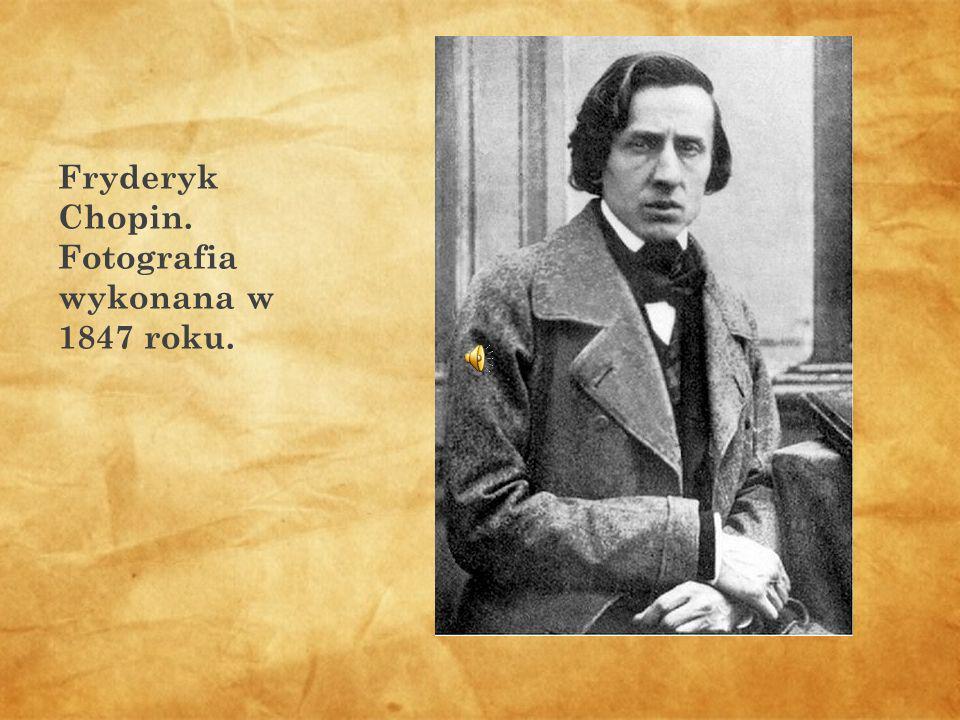Fryderyk Chopin. Fotografia wykonana w 1847 roku.