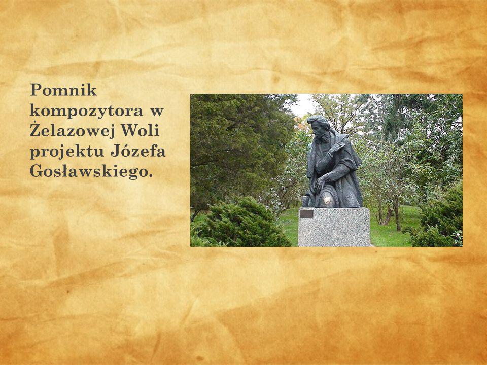 Pomnik kompozytora w Żelazowej Woli projektu Józefa Gosławskiego.