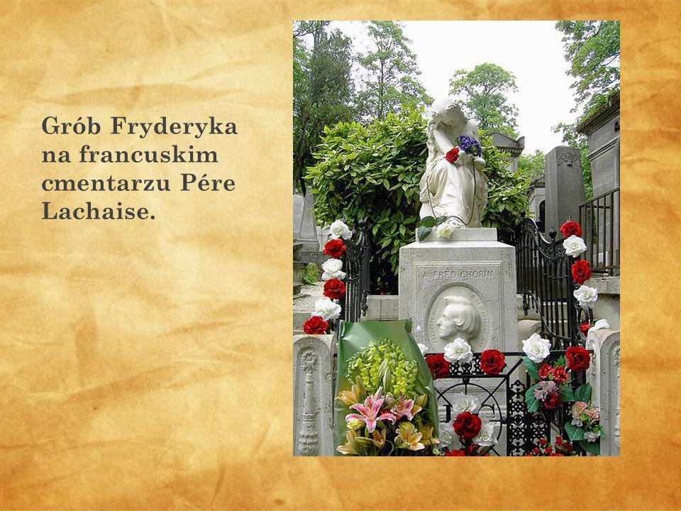 Grób Fryderyka na francuskim cmentarzu Pére Lachaise.