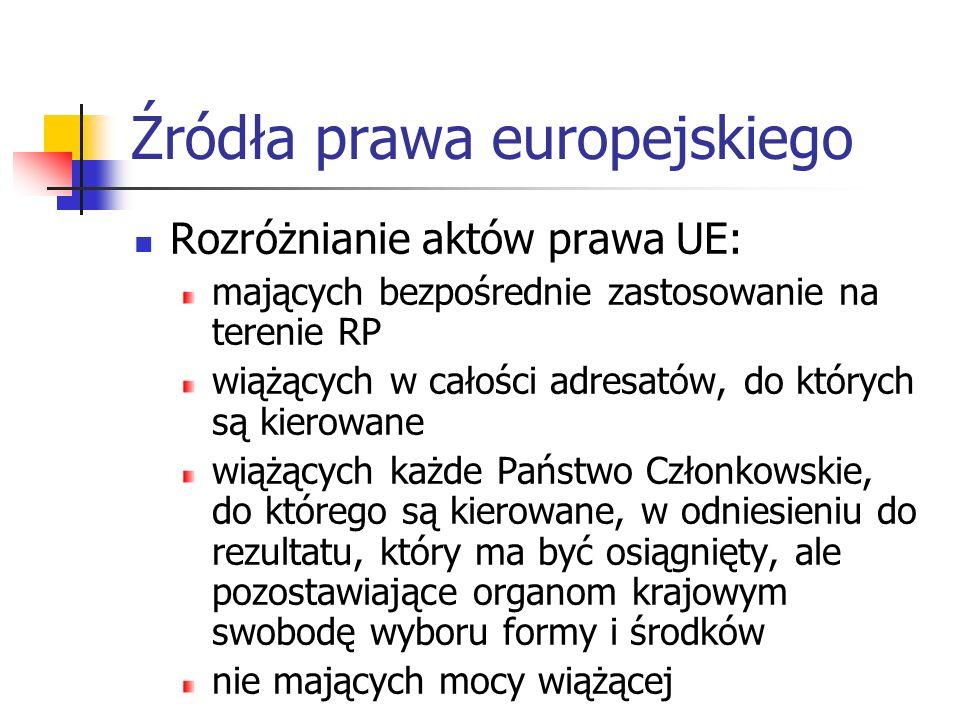 Źródła prawa europejskiego