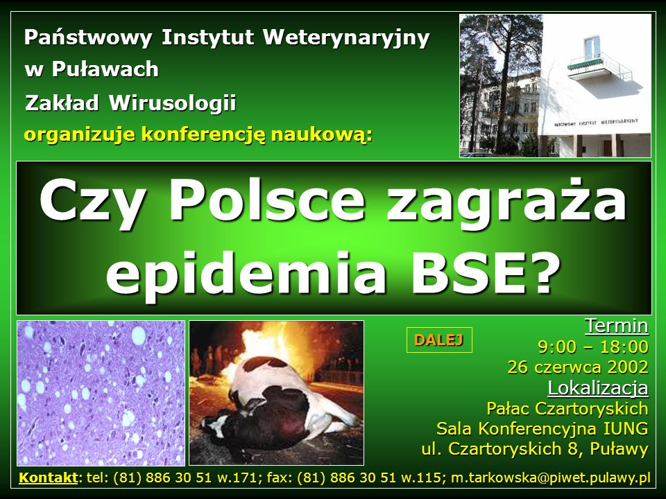 Czy Polsce zagraża epidemia BSE
