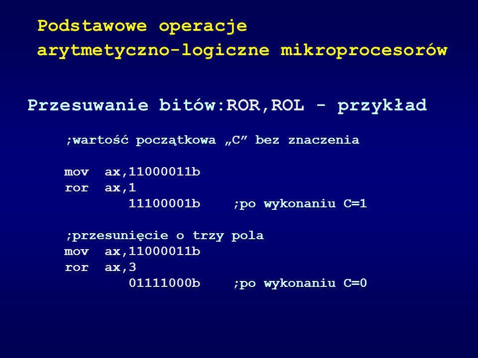 arytmetyczno-logiczne mikroprocesorów