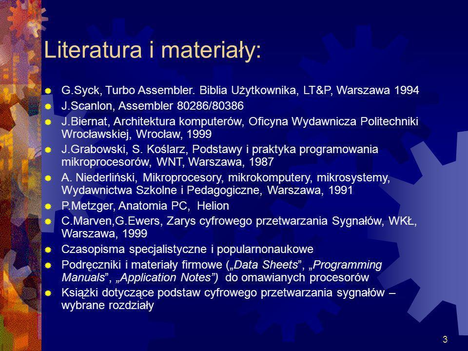 Literatura i materiały:
