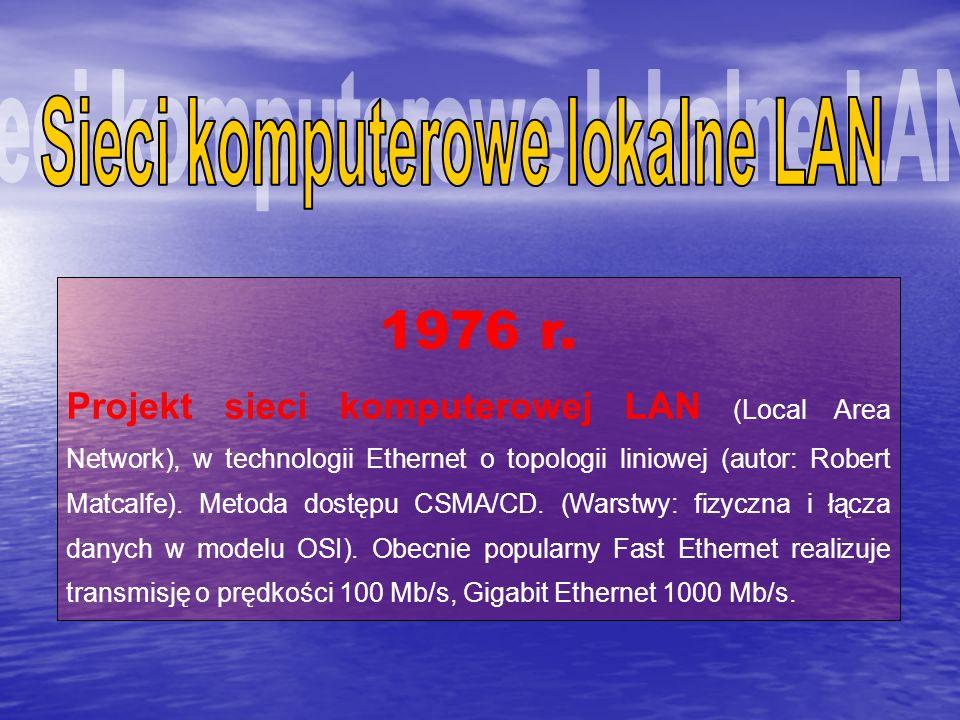 Sieci komputerowe lokalne LAN