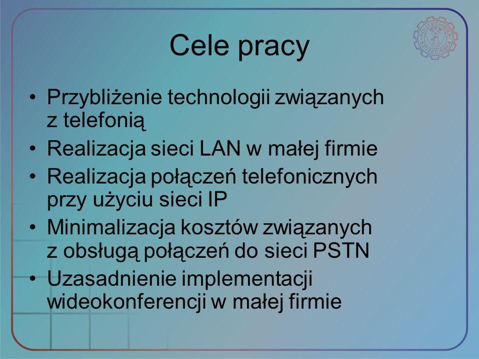 Cele pracy Przybliżenie technologii związanych z telefonią