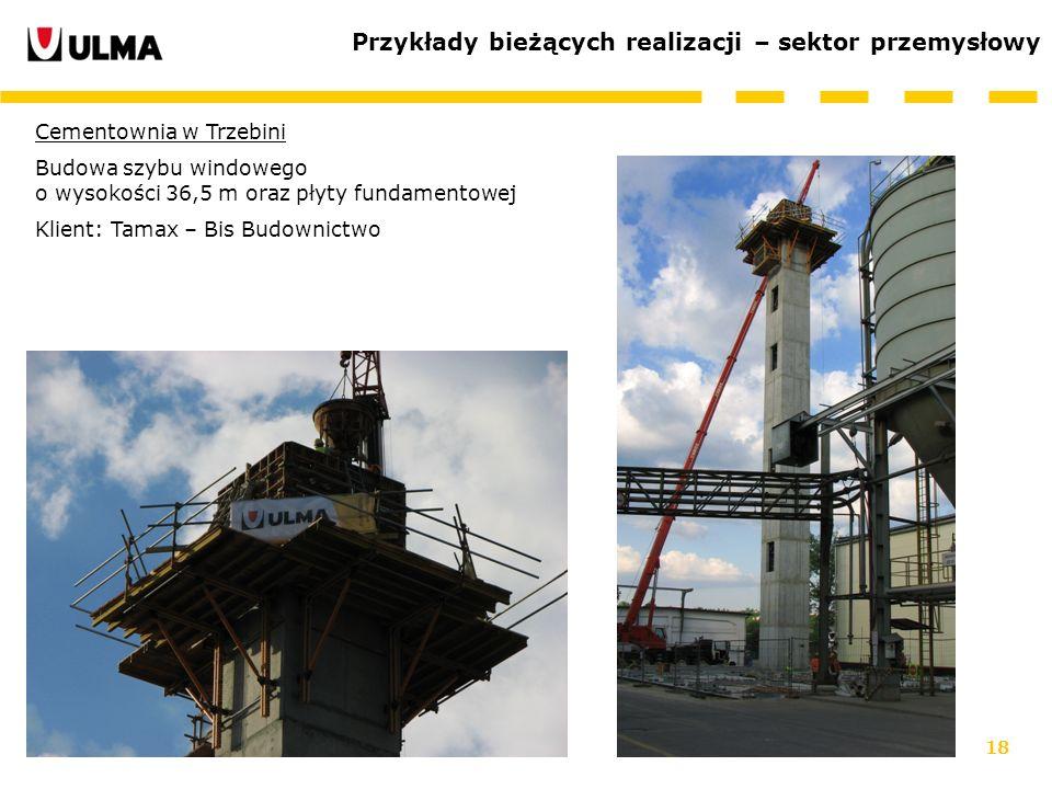 Przykłady bieżących realizacji – sektor przemysłowy