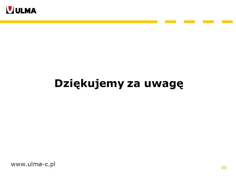 Dziękujemy za uwagę www.ulma-c.pl